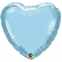 "Pearl Blue Mini Foil Balloon (4"" Heart Air-Fill) 1pc"